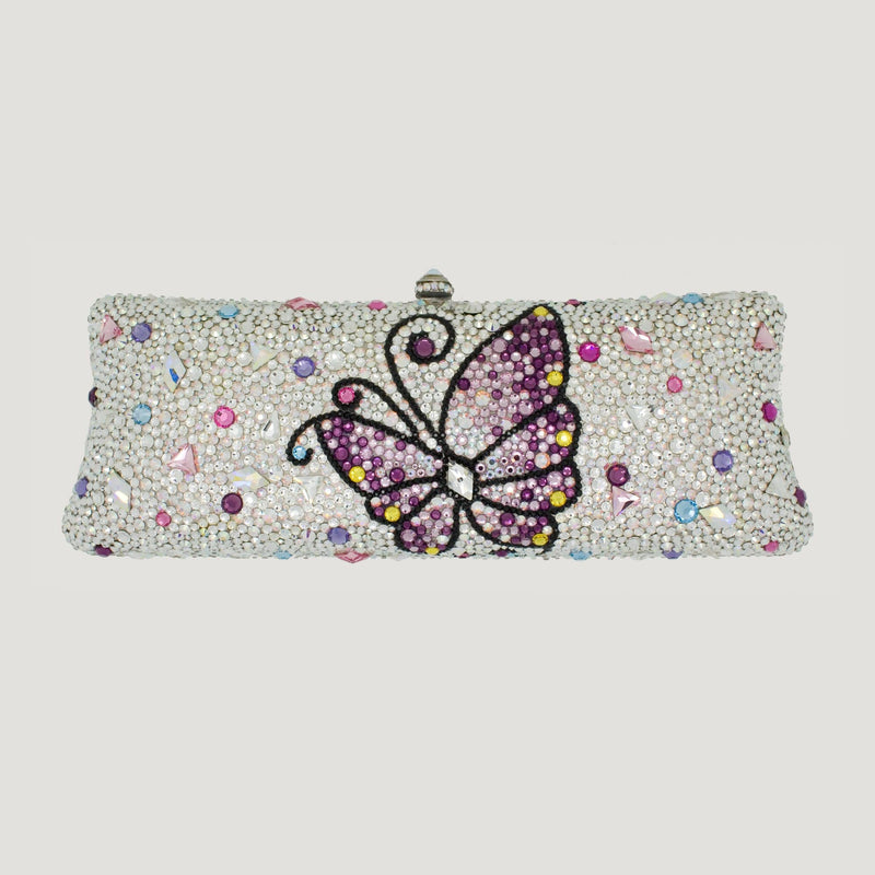 Butterfly Couture Swarovski Crystal Clutch Bag