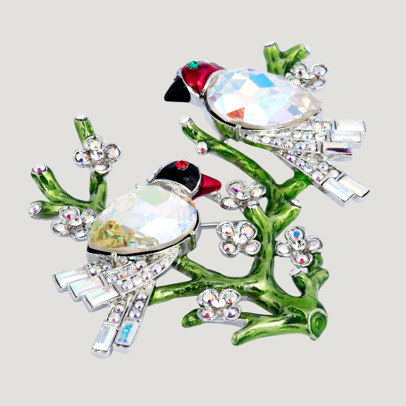 Spring Birds Brooch