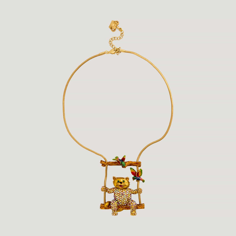 Cat on a Swing Necklace