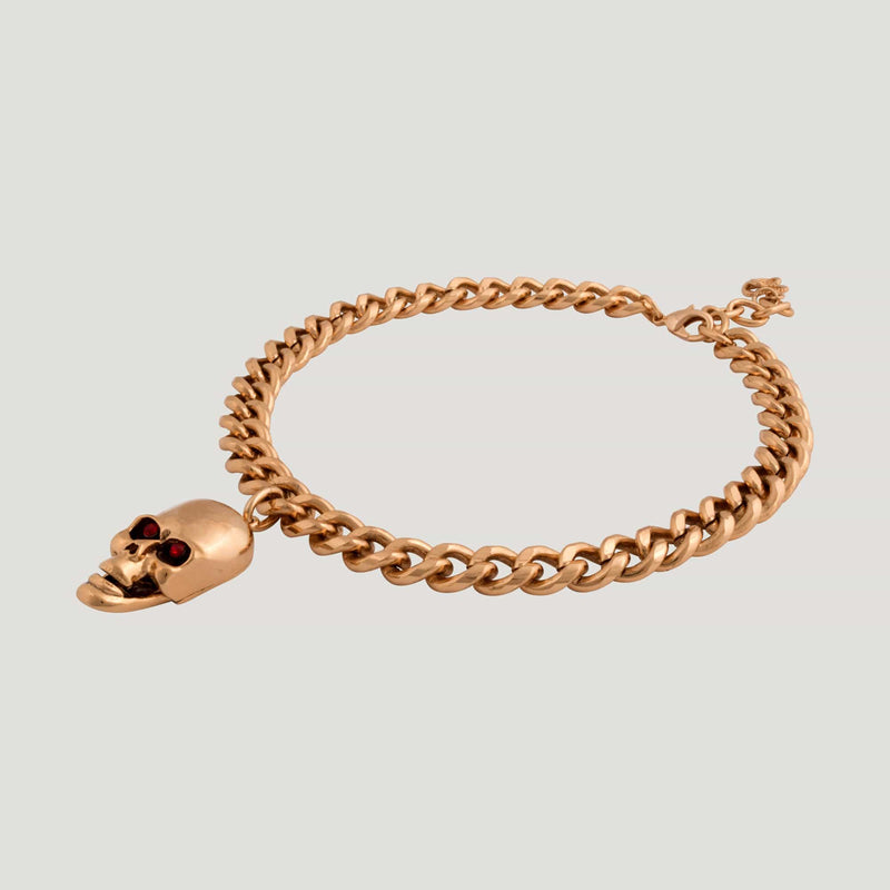 Skull on Chain Necklace