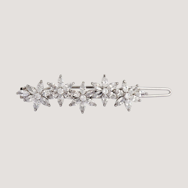 Five Crystal Flowers Hairclip
