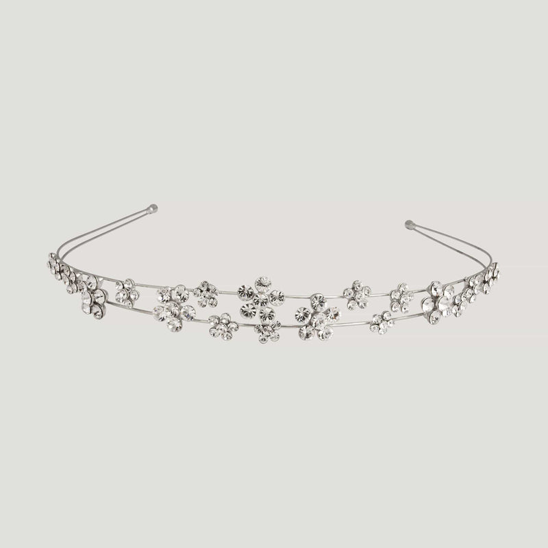 Multi Crystal Flower Headband