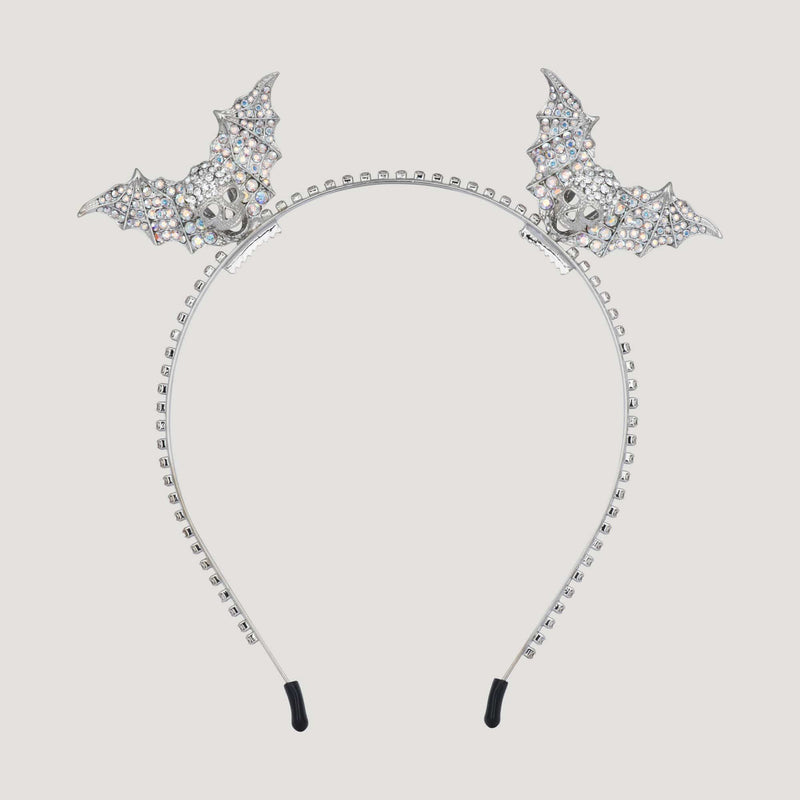 Cute Skull with Bat Wings Headband