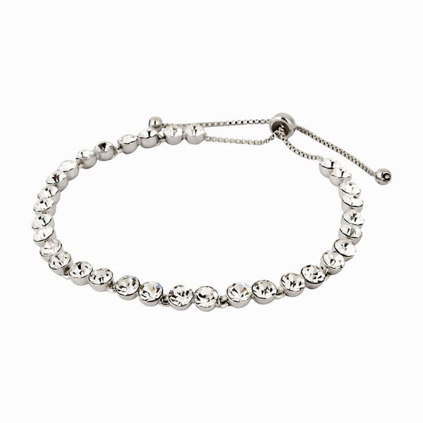 Single Row Crystal Adjustable Bracelet