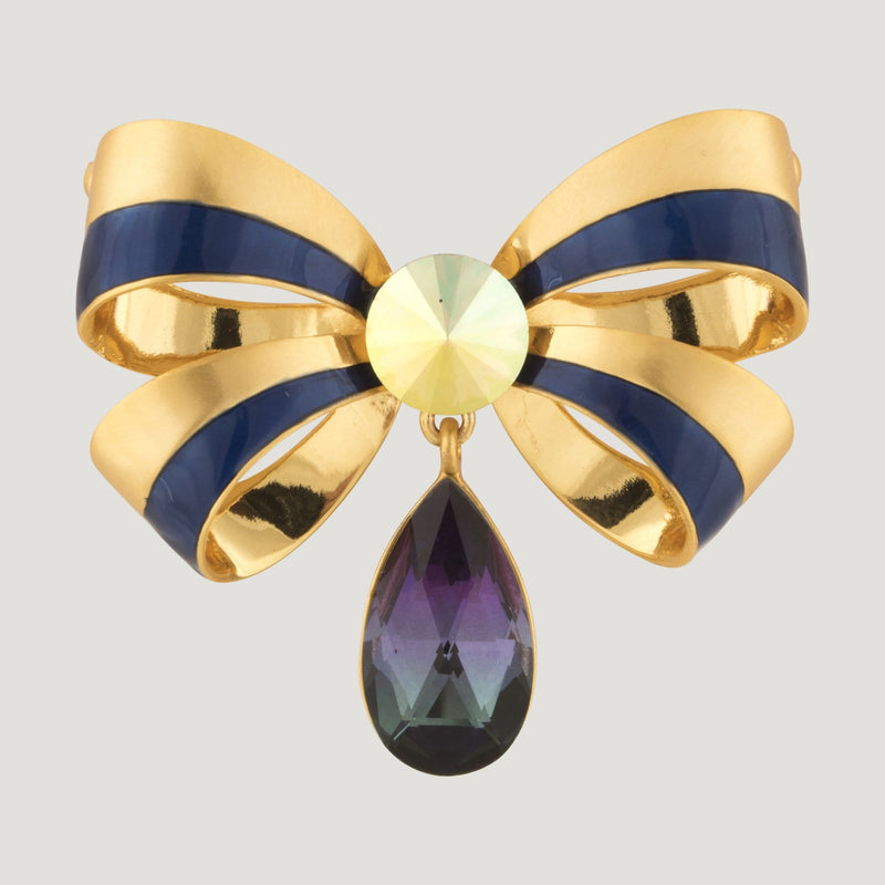 Bow with teardrop Brooch