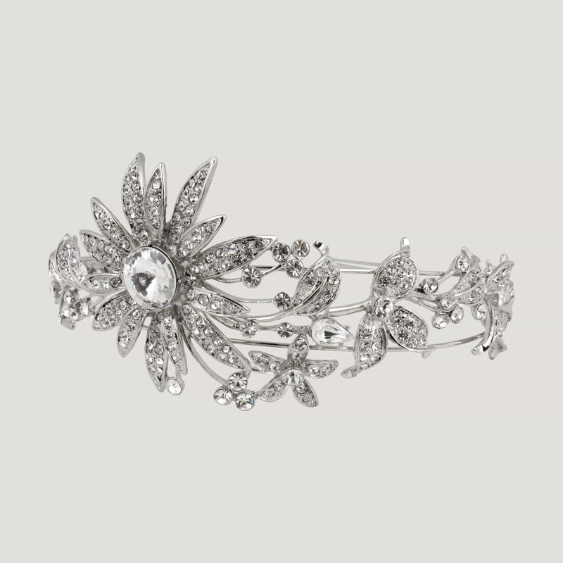 Adjustable Crystal Flower Headband