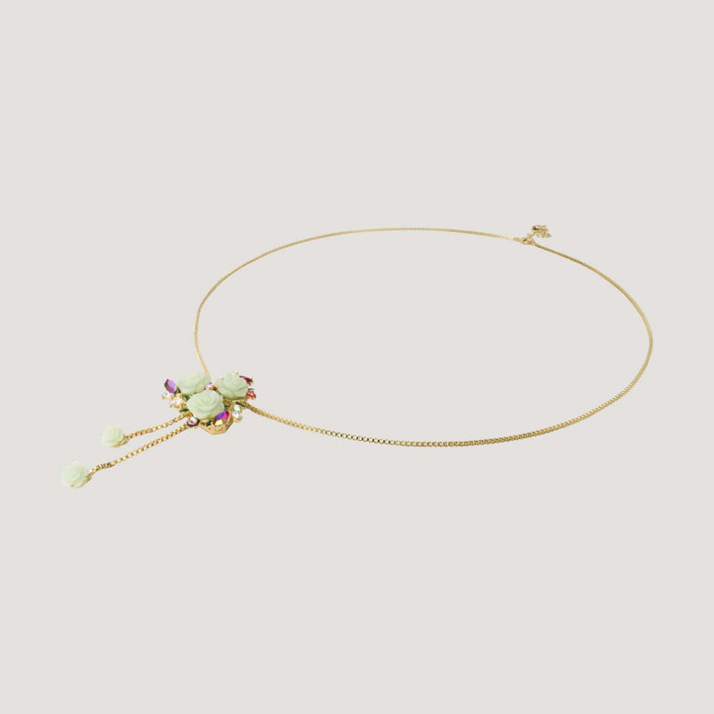 Delicate Roses Chain Necklace