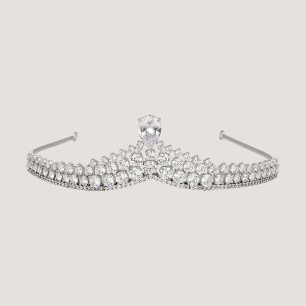 Crystal Top Teardrop Crystal Tiara