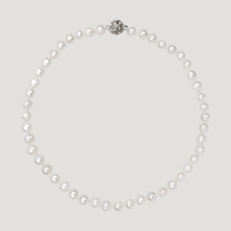 Pearl Short Row Necklace