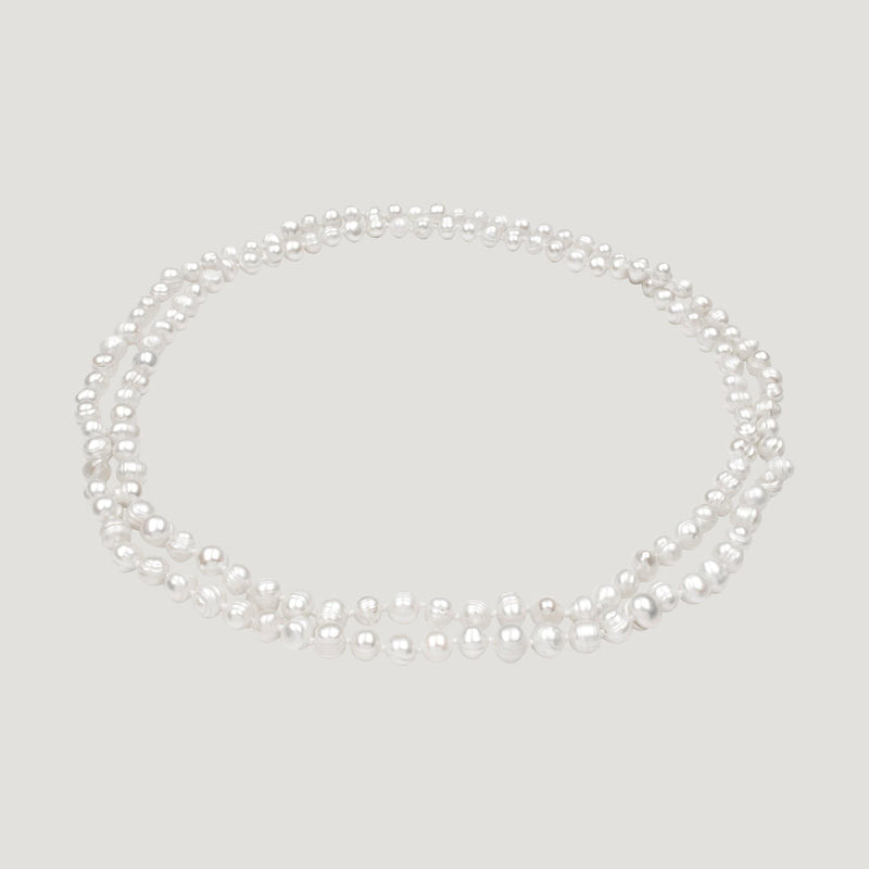 Extra Long Pearls Necklace