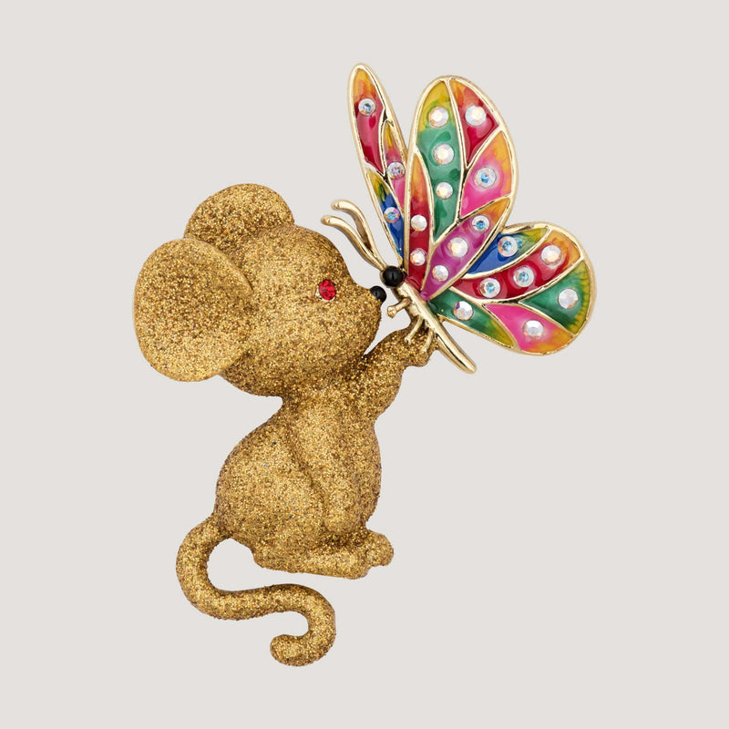 Mouse with a Butterfly Brooch