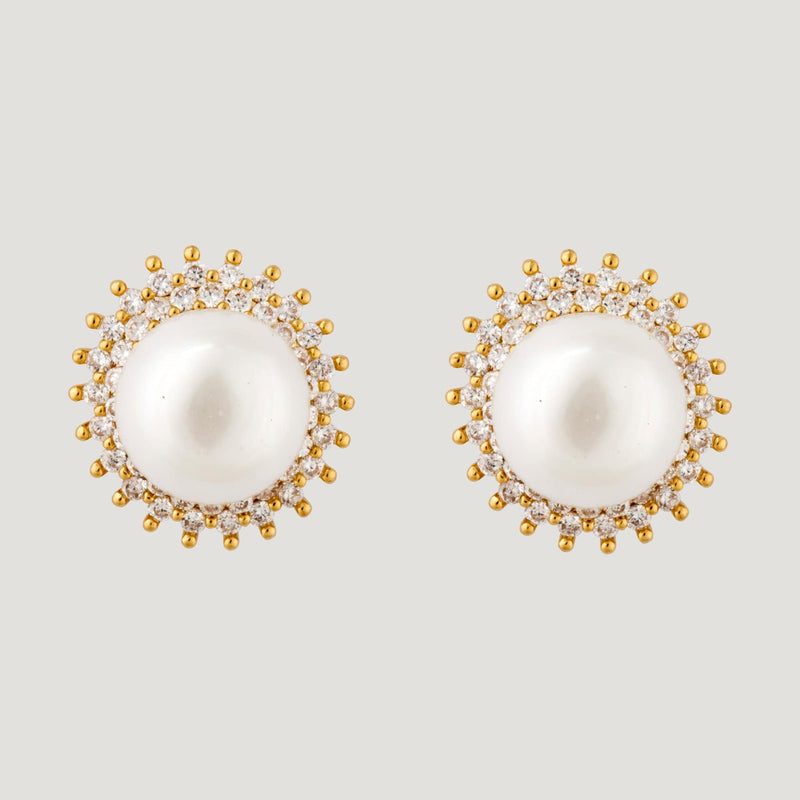 Crystal Sphere Stud Earrings