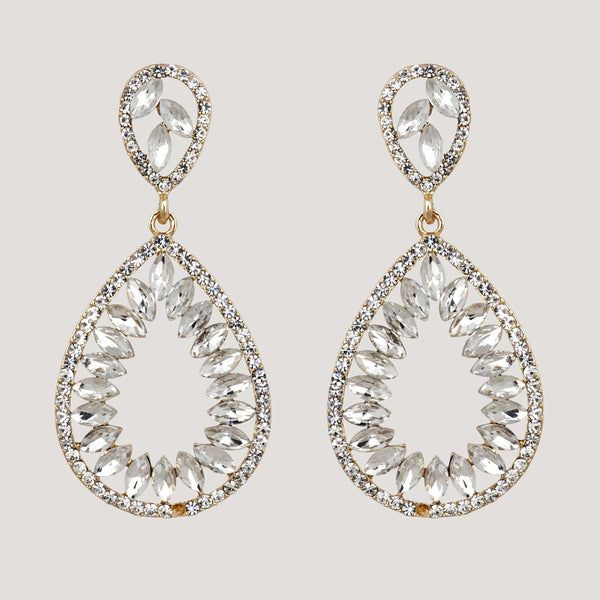 Large Teardrop Shape Drop Earrings