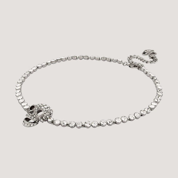 Crystal Skull Single Row Choker