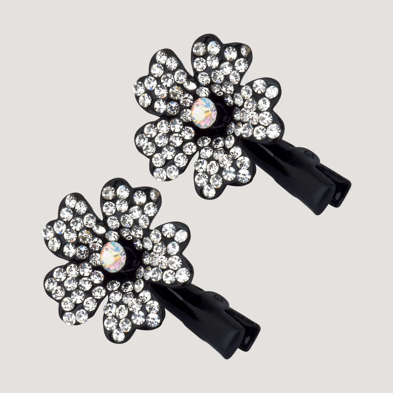 Crystal Primrose Hairclips x 2