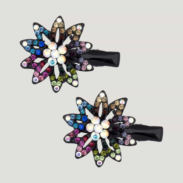 Passion Flower Hairclips x 2