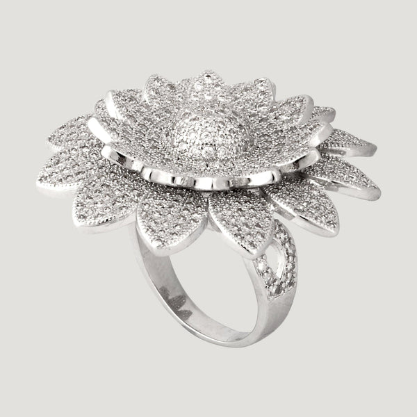 CZ Crystal Sunflower Ring