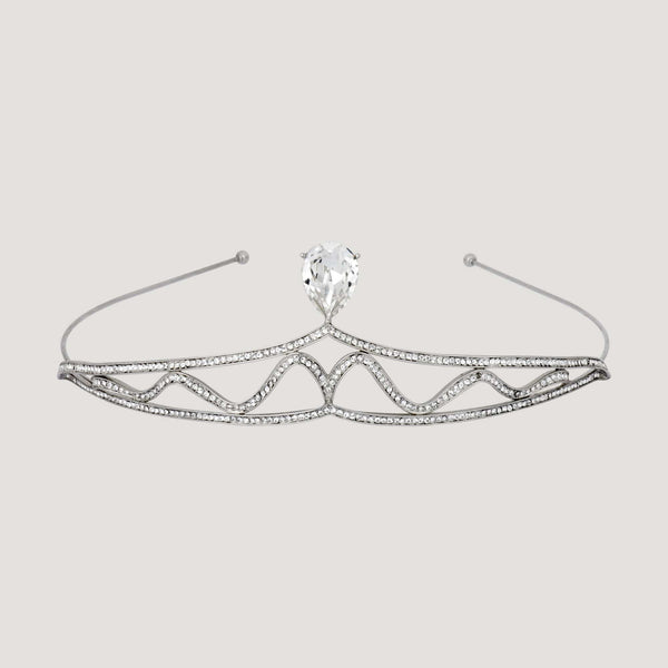 Crystal Teardrop Wave Tiara