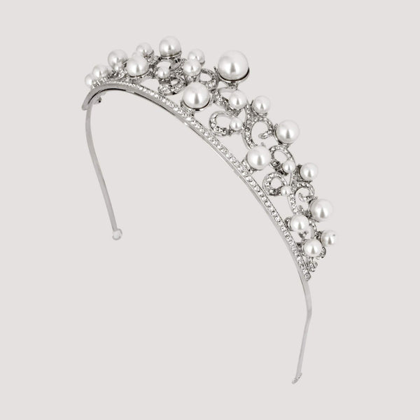 Pearls and Crystal Swirls Tiara