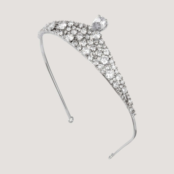 Crystal Teardrop Tiara