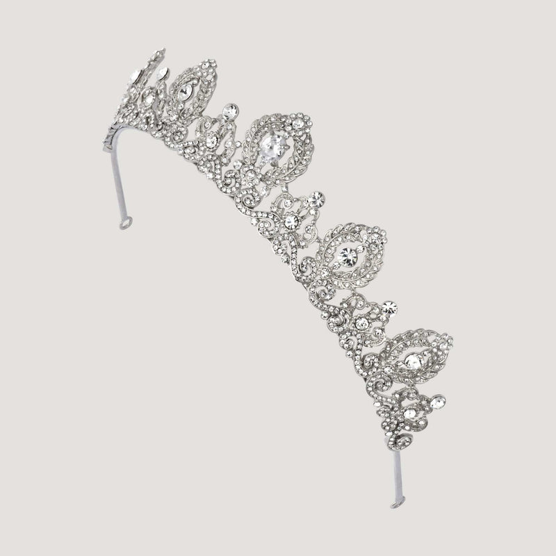 Laurel Wreath Crystal Tiara