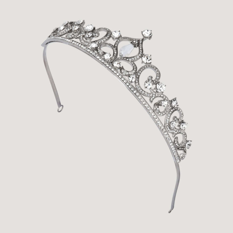 Pointed Top Crystal Tiara