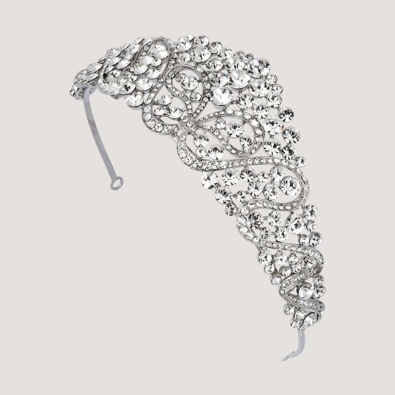 Crystal Ribbon Prom Tiara