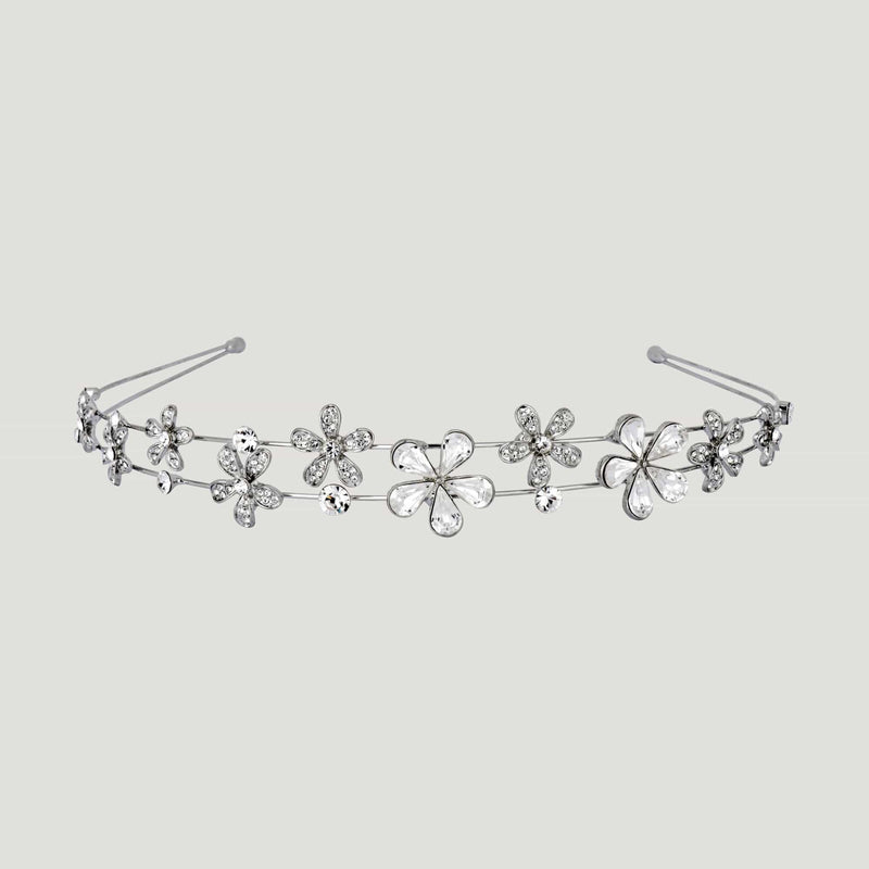 Crystal Multi Flower Headband