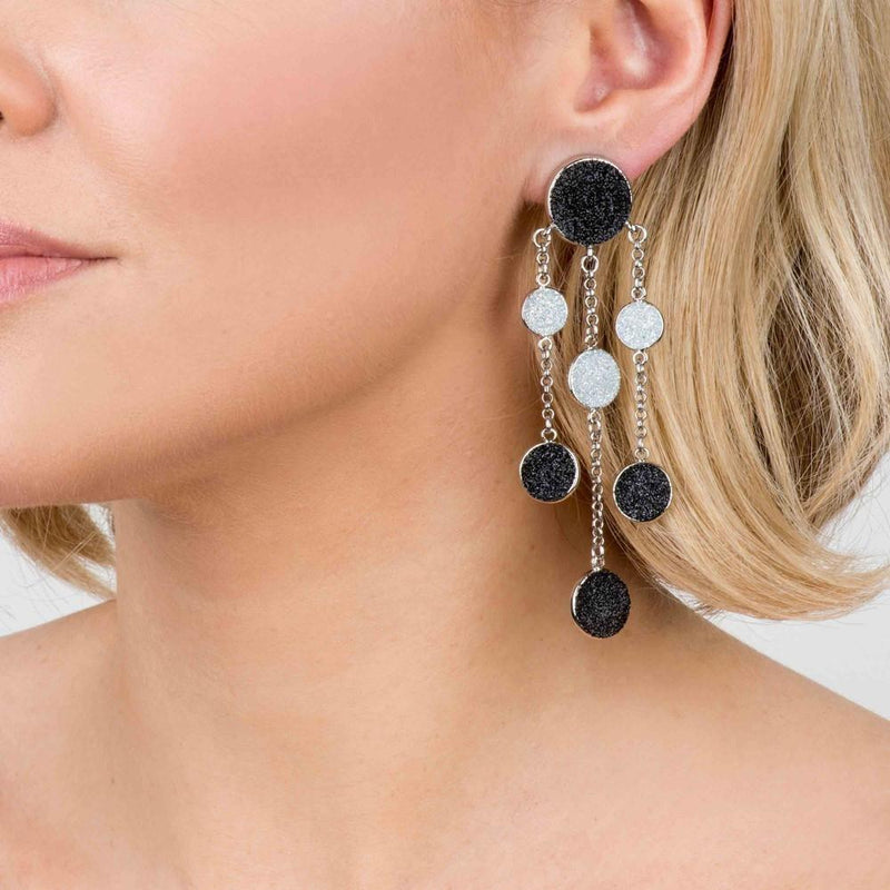 Glitter Droplet Waterfall Earrings