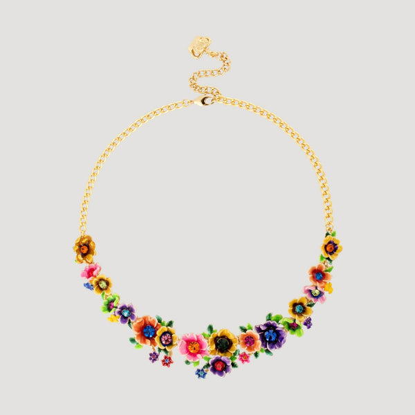 Assorted Flowers Chain Necklace