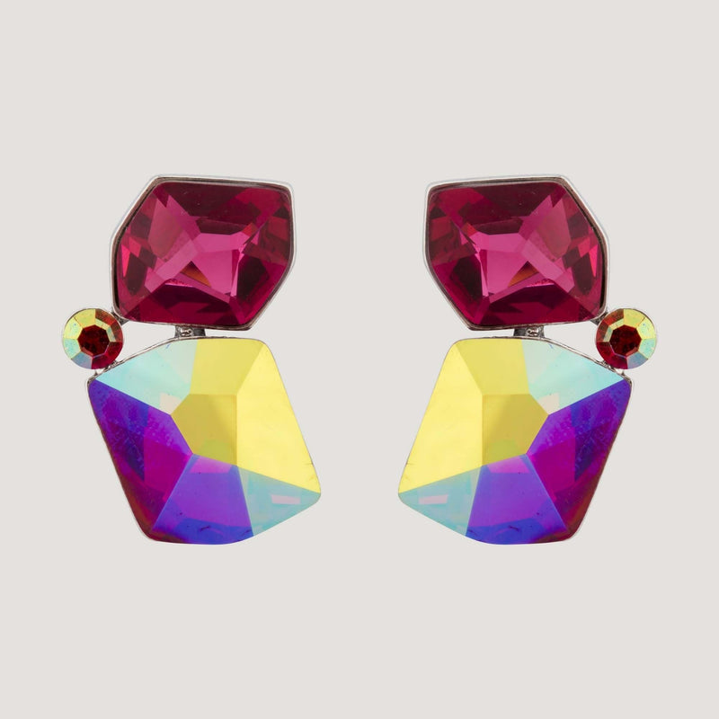 Asymmetric Gemstone Earrings