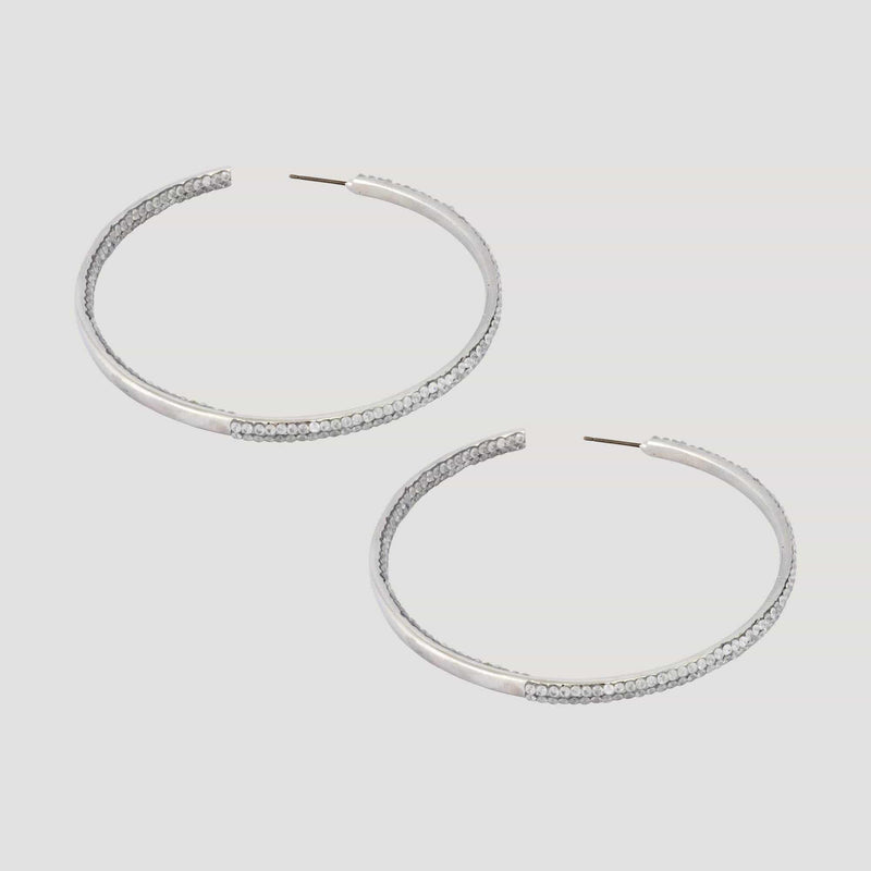 Large Cubic Zircoia Hoop Earrings