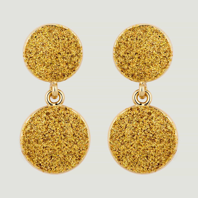 Glitter Ball Droplet Earrings