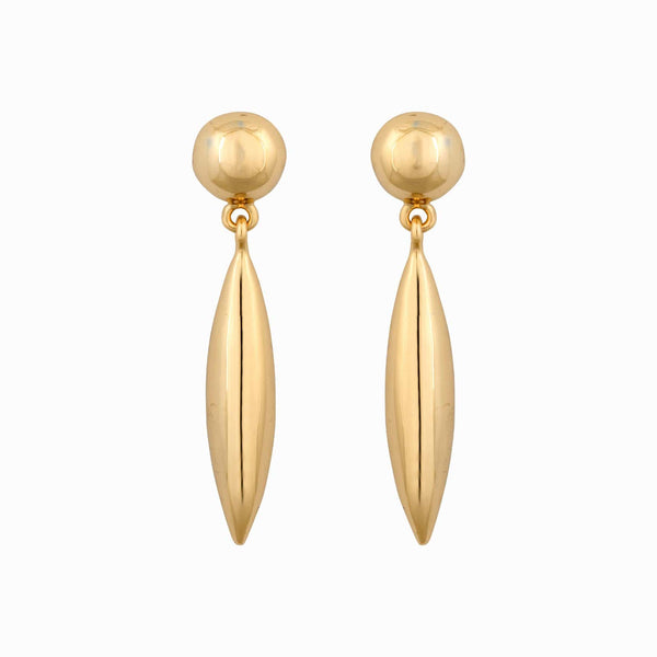 Metal Cone Drop Earring
