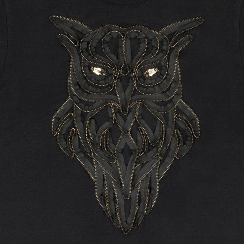 Uni-sex Owl Zip T-shirt