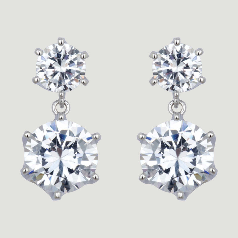 CZ Droplet Earrings