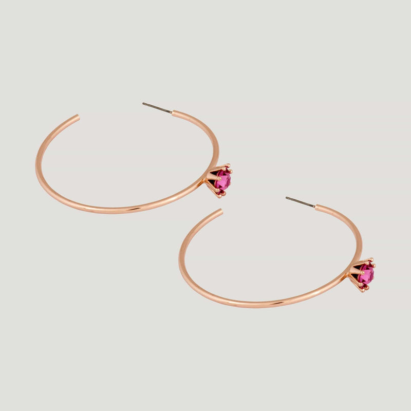 Hoop Earrings with Crystal