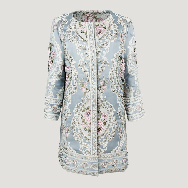 Flower Print Dress Coat