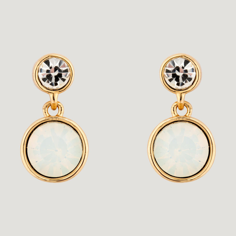 Opalised Circle Drop Earrings