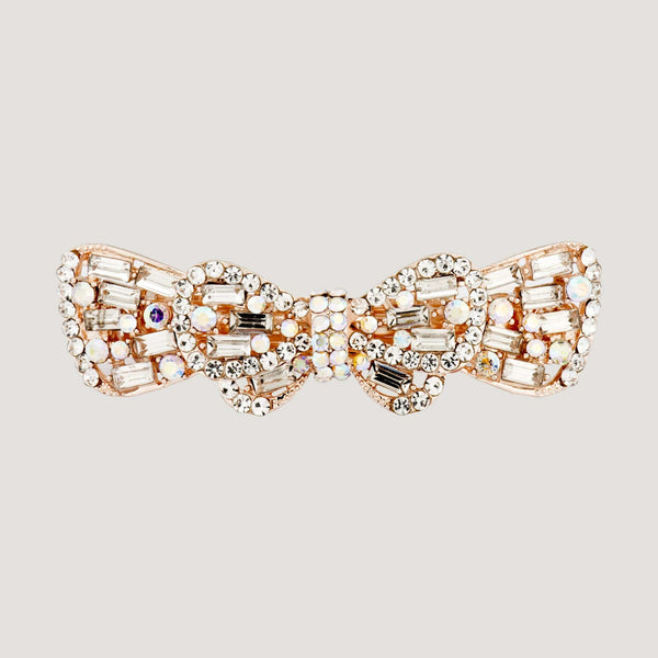 Baguette Crystal Bow Hairclip