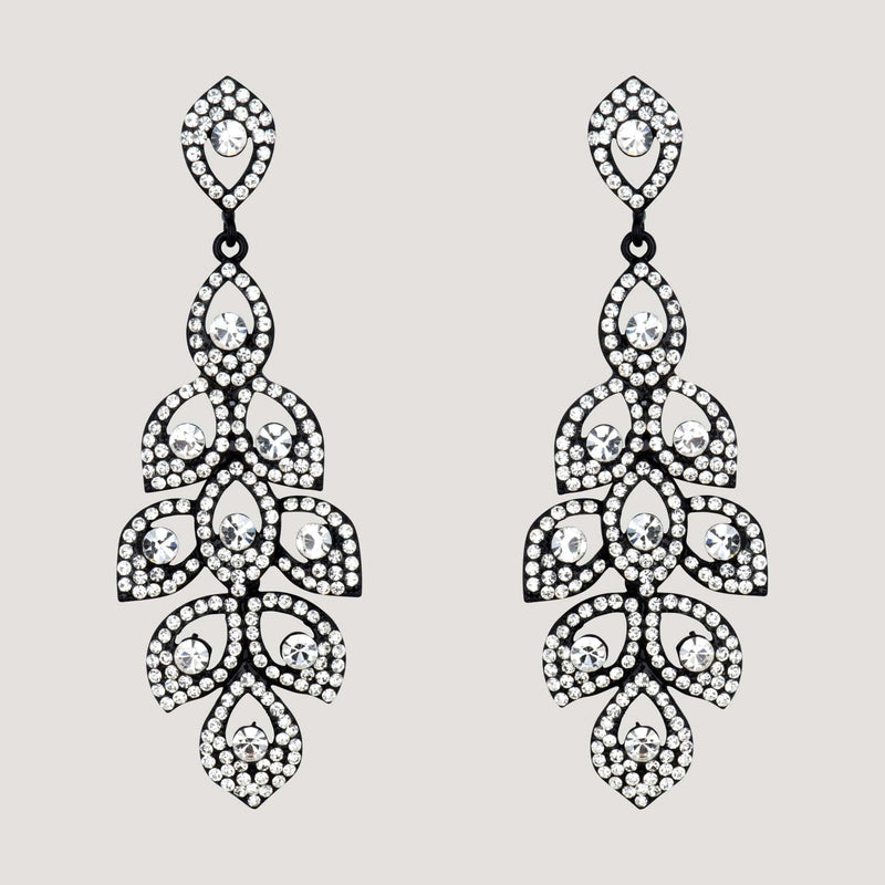 Trailing Droplet Chandelier Earrings