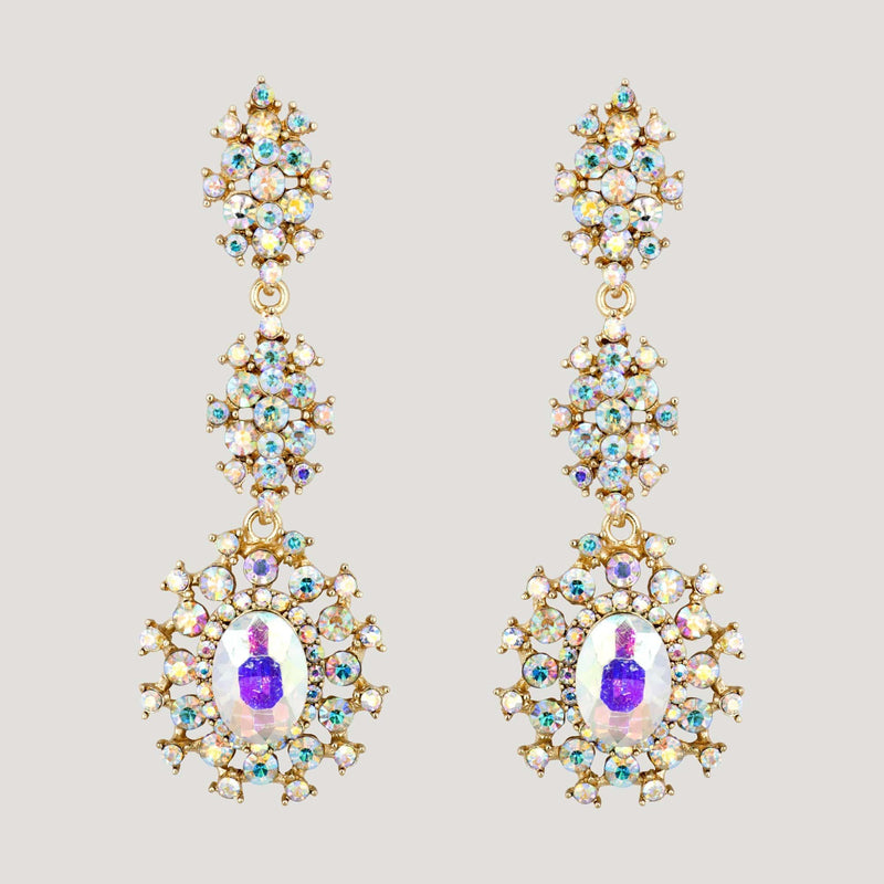 Trailing Chandelier Drop Earrings