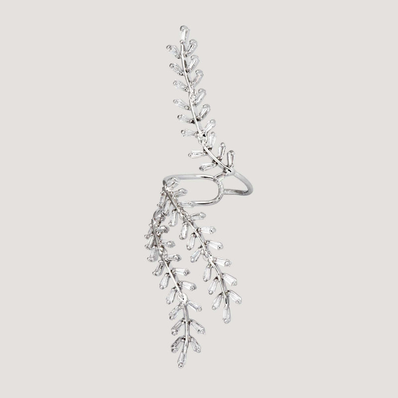 Adjustable Leaves Branches Crystal Ring