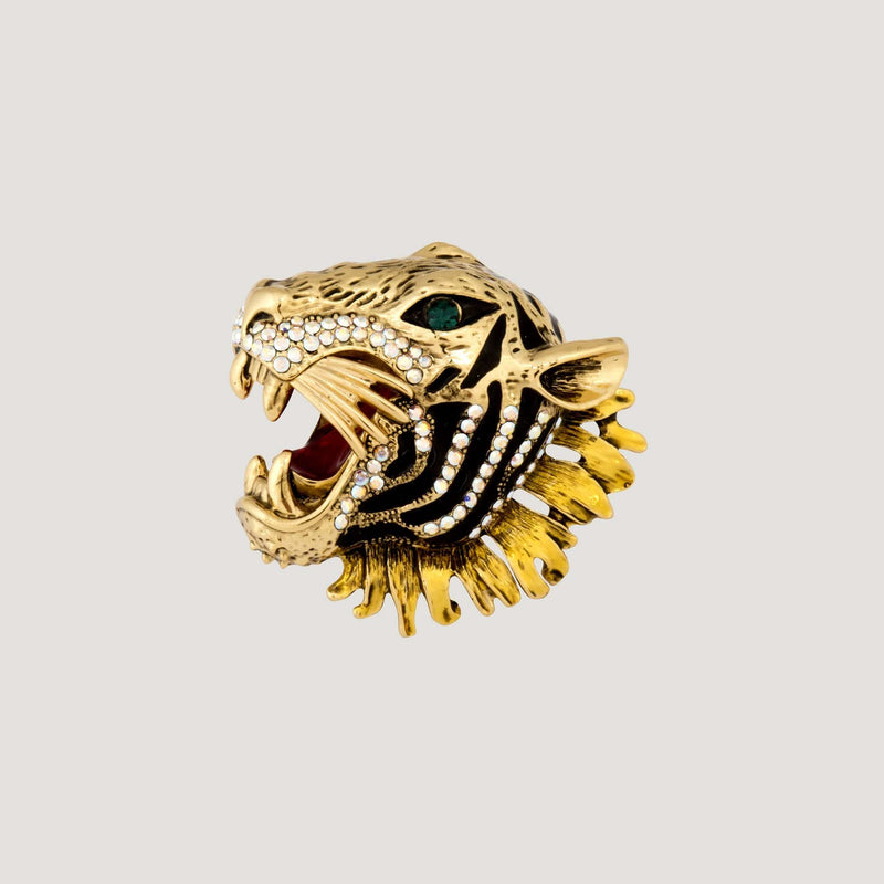 Crystal Adjustable Tiger Ring