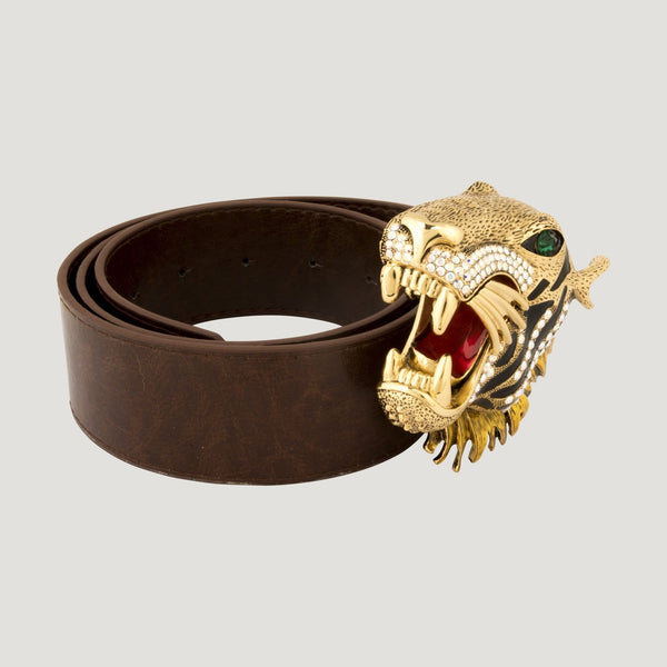 Big Crystal Tiger Buckle Belt