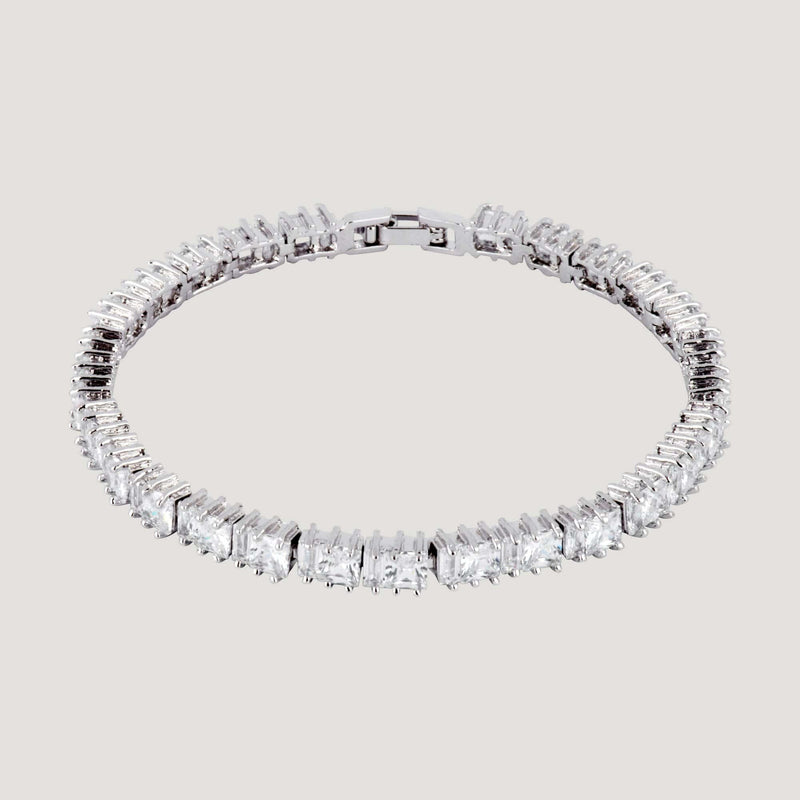 CZ Crystal Rectangle Bracelet