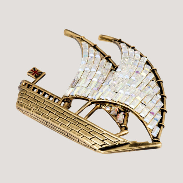 Ship with two Sails Brooch