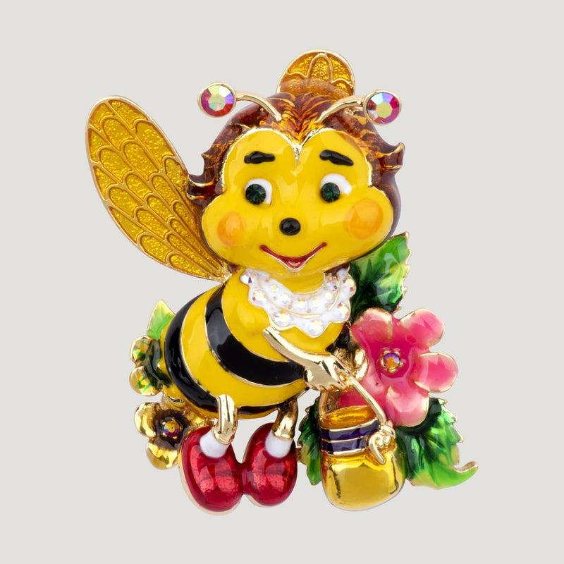 Billy Bee with Honey Jar Brooch