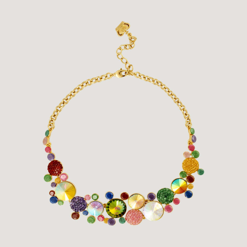 Assorted Glass Circle Stones Necklace