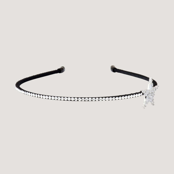 Single Row Crystal Star Hairband